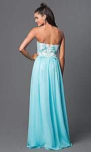 Image of long strapless chiffon prom dress by Elizabeth K Style: FB-GL2050 Back Image
