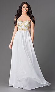 Long Strapless Chiffon Prom Dress by Elizabeth K