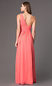 Image of long one-shoulder Elizabeth K prom dress. Style: FB-GL2028 Back Image