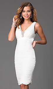 Knee Length Sleeveless V-Neck Dress