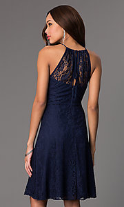 Image of lace sleeveless knee length dress Style: SI-11464 Back Image