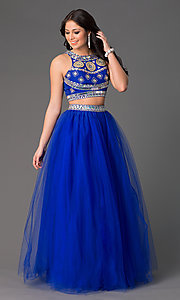 Floor Length Two Piece Ball Gown