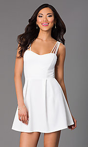 Image of Sleeveless Short Dress Style: CL-43400 Detail Image 1