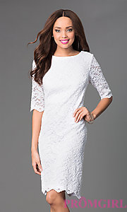 Short Lace Dress with Sleeves by Sally Fasion