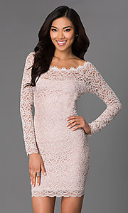 Short Lace Long Sleeve Dress by Jump