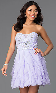 Short Strapless Sweetheart Dress by Masquerade