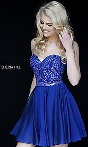 Short Strapless Sweetheart Sherri Hill Dress