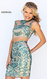 Sherri Hill Short Two-Piece Jewel-Embellished Dress