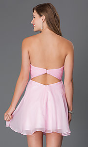 Image of short strapless open-back jewel embellished party dress Style: AL-3668 Back Image