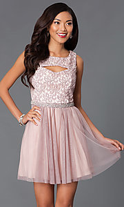 Short lace bodice dress