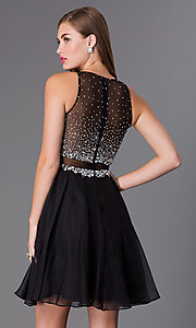 Image of jewel-embellished bodice short JVN by Jovani dress. Style: JO-JVN-JVN27600 Back Image
