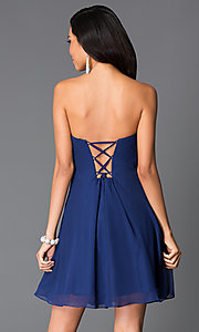 Image of Faviana Strapless Empire Waist Dress Style: FA-7650 Back Image