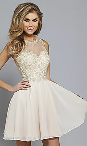 Lace-Embroidered Homecoming Dress by Faviana S7668