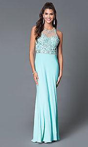 Long Open Back Beaded Sweetheart Prom Dress by Dave and Johnny