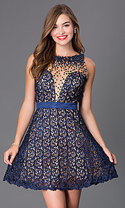 Short Open Back Lace Dave and Johnny Dress