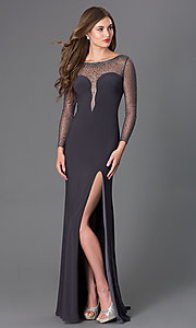 Long Sleeve Floor Length Formal Dress