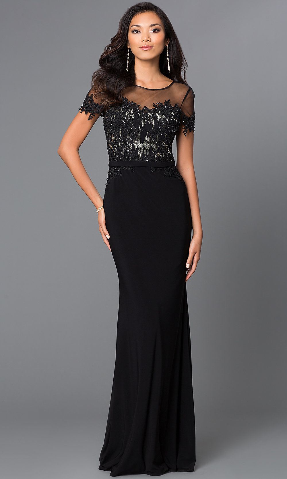Wedding Black Formal Gowns prom dresses celebrity sexy evening gowns floor length hover to zoom