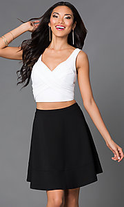 Short Two Piece V-Neck Dress by Emerald Sundae