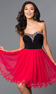 Strapless Sweetheart Homecoming Dress 55512 by Blondie Nites