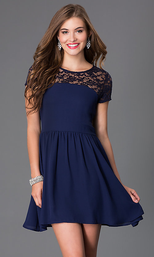 Short Sleeve Party Dresses