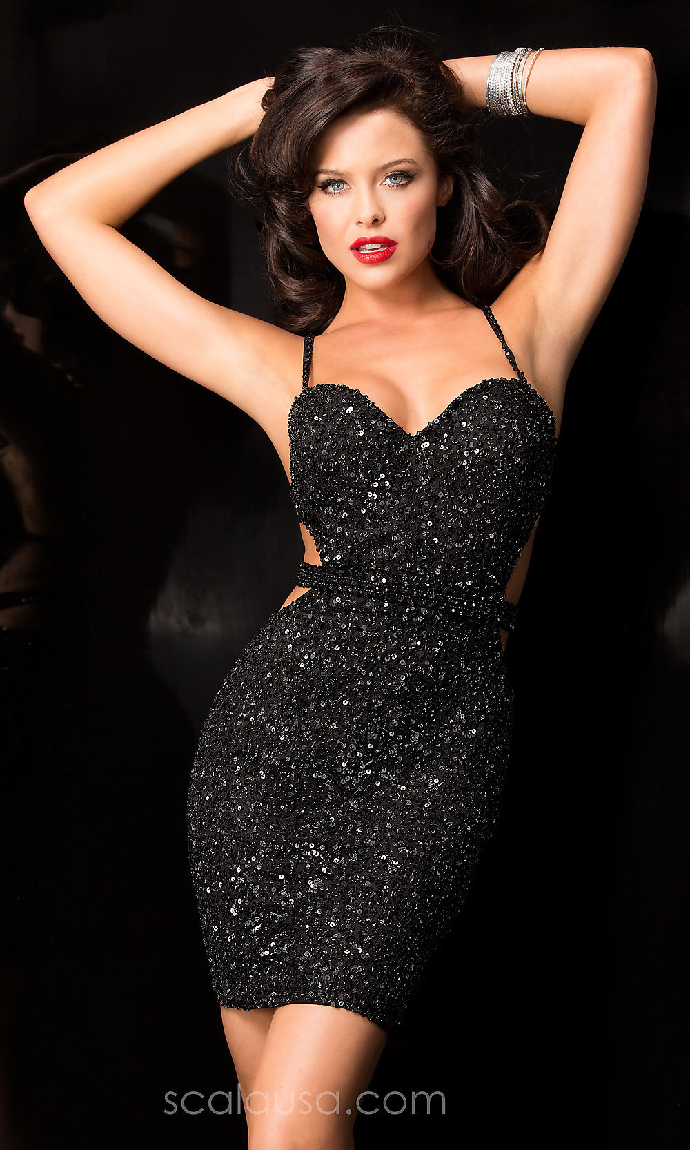 Sequin Open Back Scala Dress - PromGirl