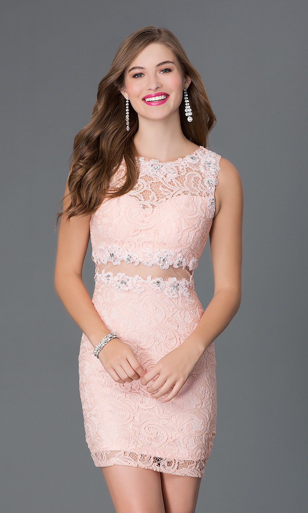 Lace Cocktail Dress Homecoming Dress- PromGirl