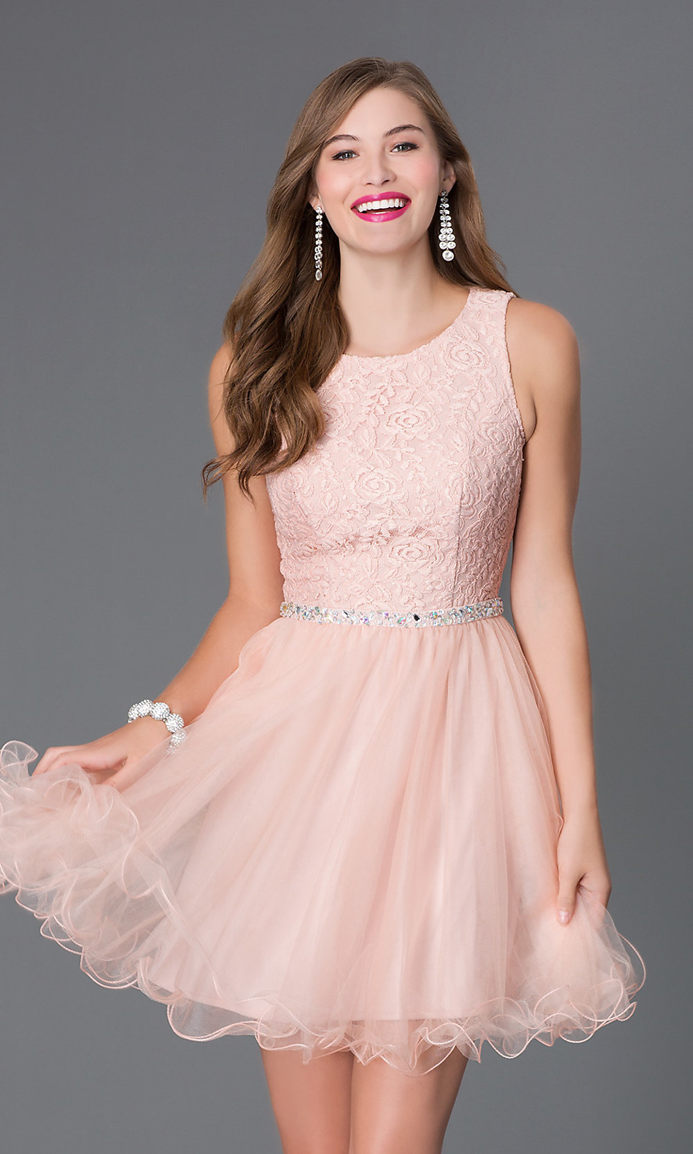 Celebrity Prom Dresses, Sexy Evening Gowns - PromGirl: Short Open ...