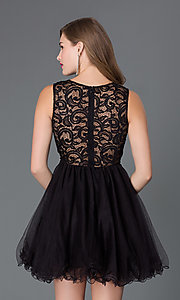 Image of Embroidered Babydoll Homecoming Dress Style: DQ-9080 Back Image