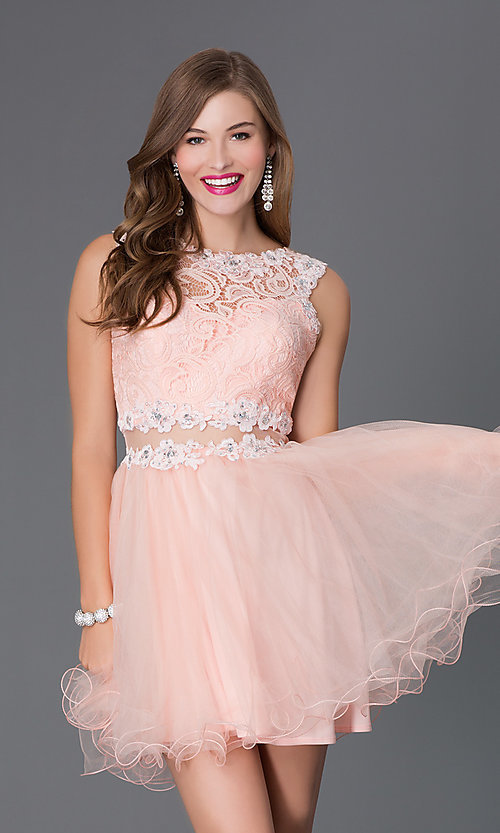 Babydoll Short Homecoming Dress - PromGirl
