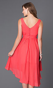 Image of sleeveless v-neck high-low dress Style: SF-8776 Back Image