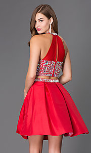 Image of two-piece short jeweled party dress 6053. Style: NA-6053 Back Image