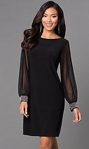 Short Black Long Sleeve Dress 644279 by Jump