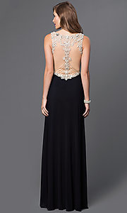 Image of floor length sleeveless v-neck dress Style: JO-JVN-JVN31415 Back Image