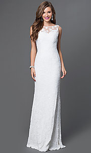 Long Sequin Open Back Dress by JVN by Jovani