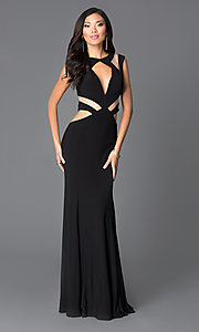 Long Illusion Cut Out Prom Dress by JVN by Jovani