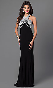 Embellished Empire Waist Long JVN by Jovani Dress
