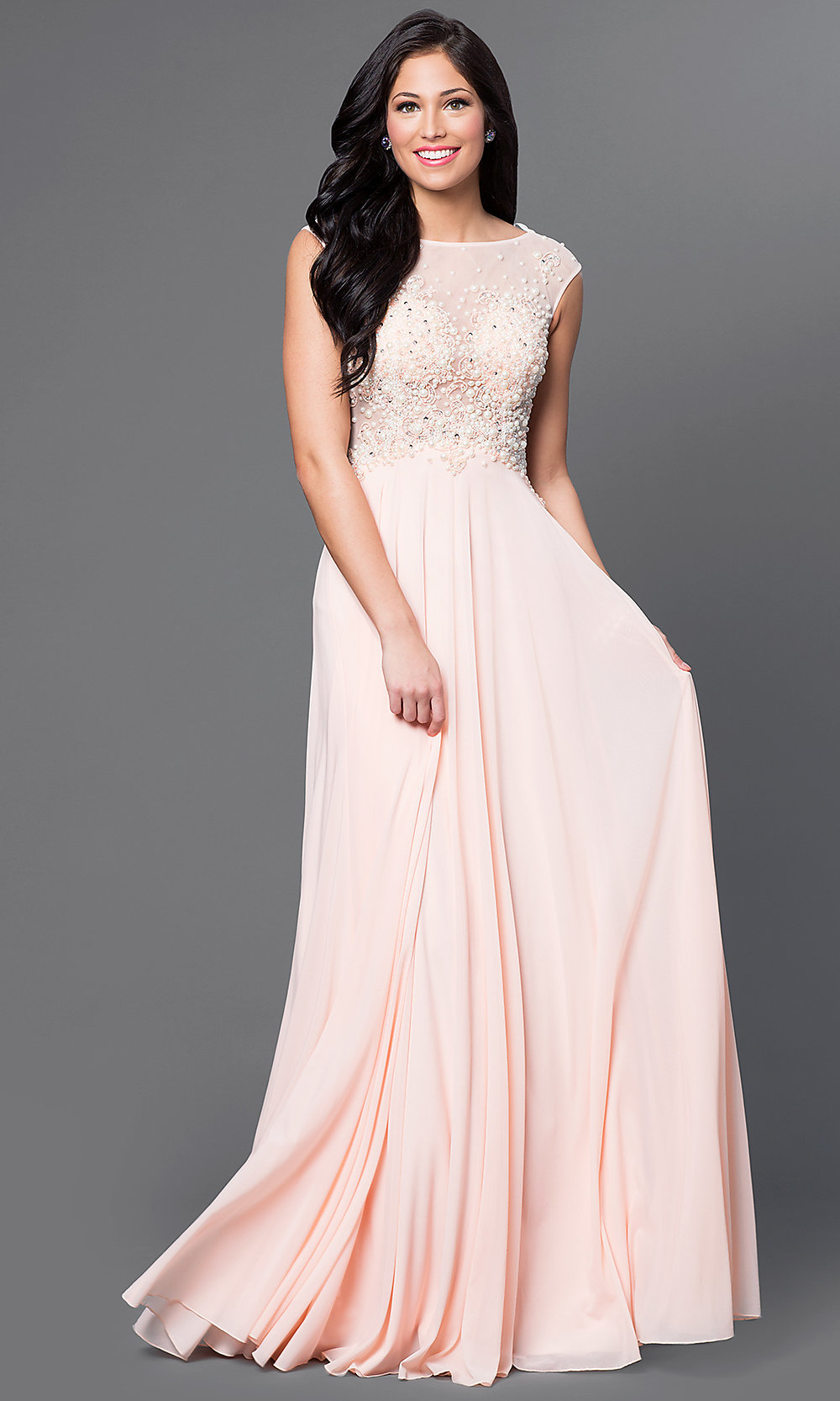 Long Cap Sleeve Jvn By Jovani Dress Promgirl