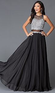 Beaded Sleeveless Long Dress by JVN by Jovani