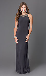 Classic Floor Length Jersey Dress