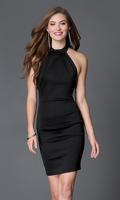 Semi formal cocktail black dress