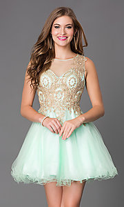 Short Sleeveless Homecoming Dress E1844