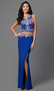 Two Piece Royal Blue Dave and Johnny Dress