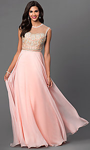 Open Back Sleeveless Floor Length Dave and Johnny Dress