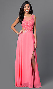 Mock Two Piece Floor Length Dave and Johnny Dress