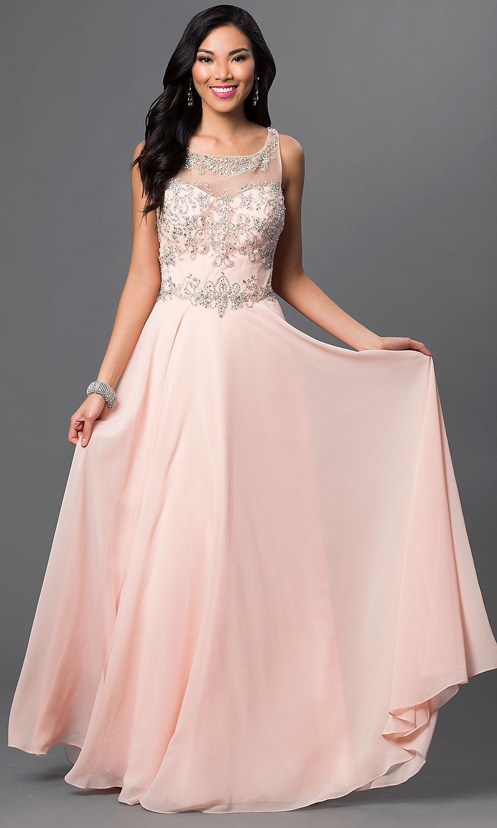 Celebrity Prom Dresses, Sexy Evening Gowns - PromGirl: DJ-2354