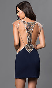 Open Back and Sheer Sides Short Dave and Johnny Dress