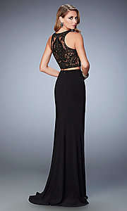 Image of two-piece Gigi long dress by La Femme Style: LF-22581 Back Image