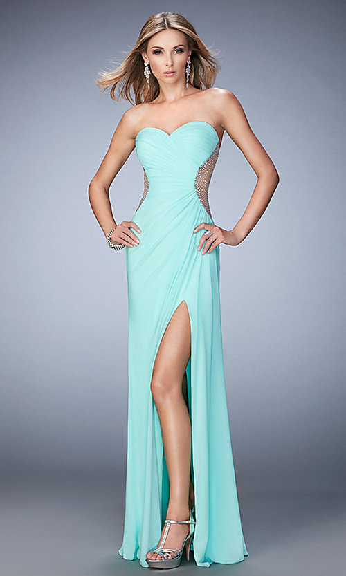 La Femme Long Sweetheart Dress - PromGirl