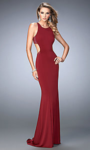 Open-Back Sleeveless Long La Femme Dress