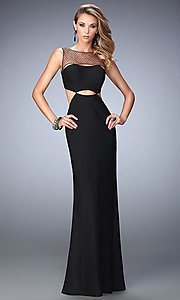 Illusion Sweetheart Open Back Long La Femme Prom Dress